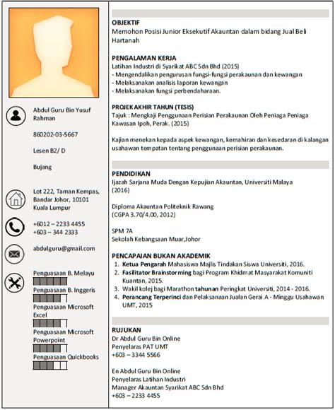 Contoh resume mintak kerja png 575x704
